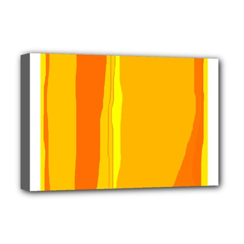 Yellow and orange lines Deluxe Canvas 18  x 12