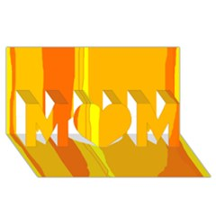 Yellow and orange lines MOM 3D Greeting Card (8x4)