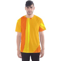 Yellow and orange lines Men s Sport Mesh Tee