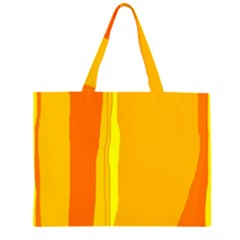Yellow and orange lines Large Tote Bag
