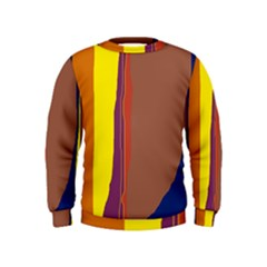 Colorful lines Kids  Sweatshirt