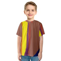 Colorful lines Kid s Sport Mesh Tee