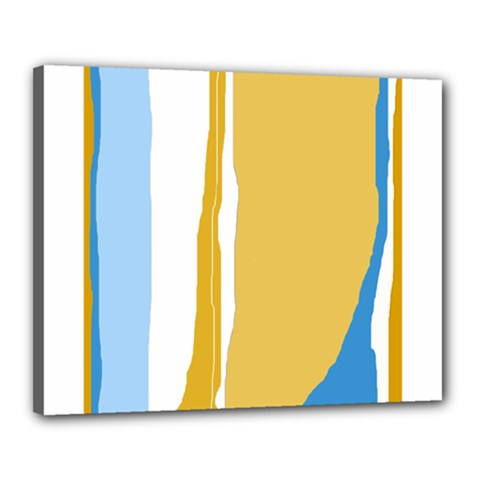 Blue and yellow lines Canvas 20  x 16