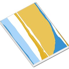 Blue and yellow lines Large Memo Pads