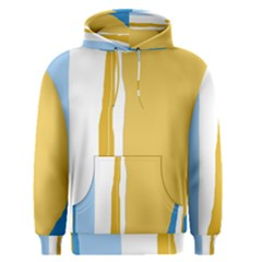 Blue and yellow lines Men s Pullover Hoodie