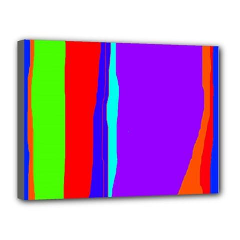 Colorful decorative lines Canvas 16  x 12