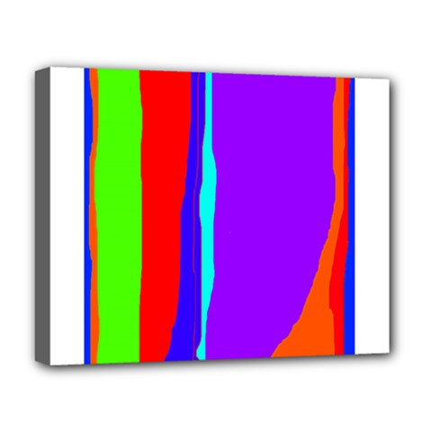 Colorful decorative lines Deluxe Canvas 20  x 16
