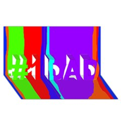 Colorful decorative lines #1 DAD 3D Greeting Card (8x4)