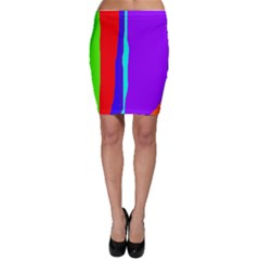 Colorful decorative lines Bodycon Skirt