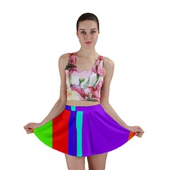 Colorful decorative lines Mini Skirt