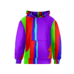 Colorful decorative lines Kids  Pullover Hoodie