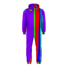 Colorful decorative lines Hooded Jumpsuit (Kids)