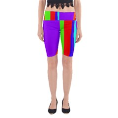 Colorful decorative lines Yoga Cropped Leggings