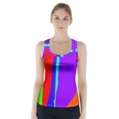 Colorful decorative lines Racer Back Sports Top