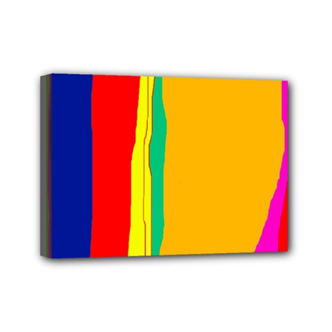 Colorful lines Mini Canvas 7  x 5