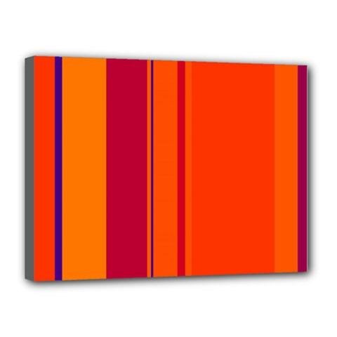 Orange lines Canvas 16  x 12