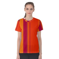 Orange lines Women s Cotton Tee
