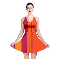 Orange lines Reversible Skater Dress