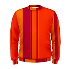 Orange lines Men s Sweatshirt