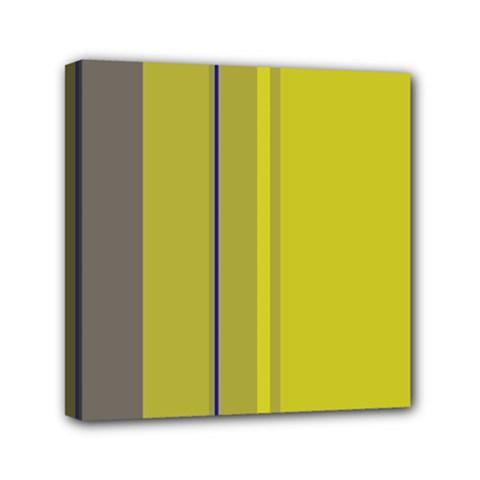 Green elegant lines Mini Canvas 6  x 6