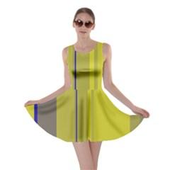 Green elegant lines Skater Dress