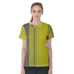 Green elegant lines Women s Cotton Tee