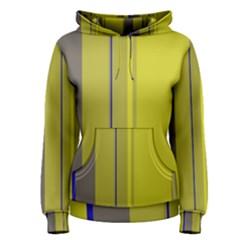 Green elegant lines Women s Pullover Hoodie