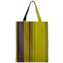 Green elegant lines Zipper Classic Tote Bag
