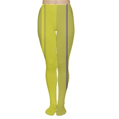 Green elegant lines Women s Tights