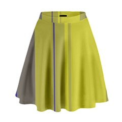Green Elegant Lines High Waist Skirt