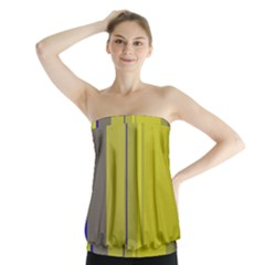 Green elegant lines Strapless Top