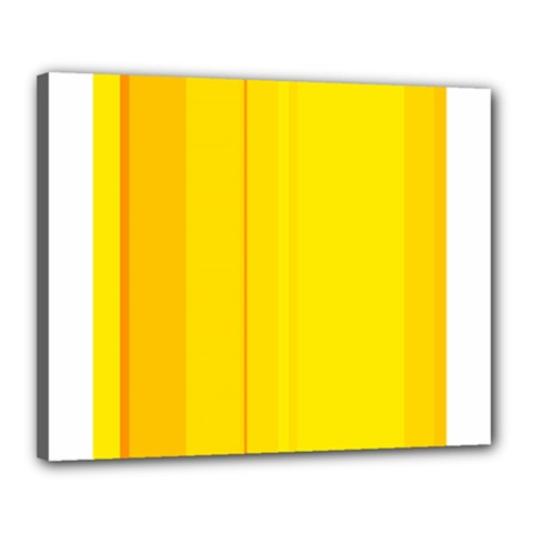 Yellow lines Canvas 20  x 16