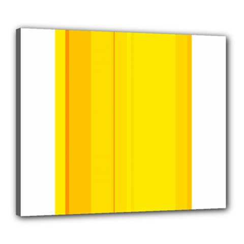Yellow lines Canvas 24  x 20