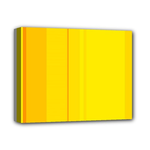 Yellow lines Deluxe Canvas 14  x 11