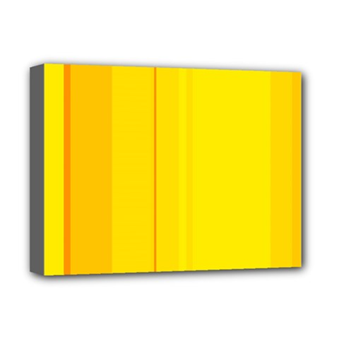 Yellow lines Deluxe Canvas 16  x 12