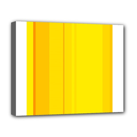 Yellow lines Deluxe Canvas 20  x 16