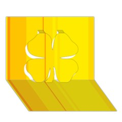 Yellow Lines Clover 3d Greeting Card (7x5)