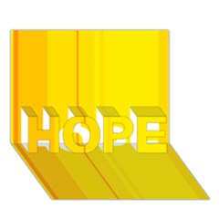 Yellow lines HOPE 3D Greeting Card (7x5)