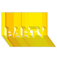 Yellow lines PARTY 3D Greeting Card (8x4)