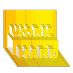 Yellow lines WORK HARD 3D Greeting Card (7x5)