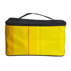 Yellow lines Cosmetic Storage Case