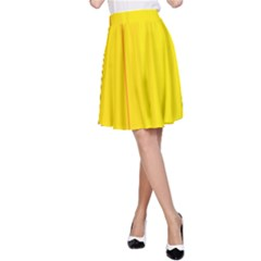 Yellow lines A-Line Skirt