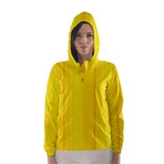 Yellow lines Hooded Wind Breaker (Women)