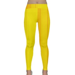 Yellow lines Yoga Leggings