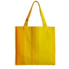 Yellow lines Zipper Grocery Tote Bag