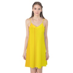 Yellow lines Camis Nightgown