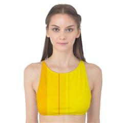 Yellow lines Tank Bikini Top