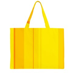 Yellow lines Large Tote Bag