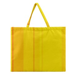 Yellow Lines Zipper Large Tote Bag