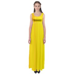 Yellow Lines Empire Waist Maxi Dress